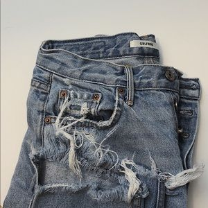 Grlfrnd Petite Helena High Rise Straight Crop Jean